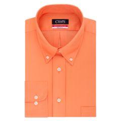 Mens Orange Button Down Collar Solid Dress Shirts Clothing   Kohl's