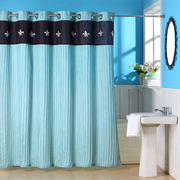 Portsmouth Home Meridian Embroidered Shower Curtain
