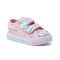 Skechers Twinkle Toes Shuffles Toddler Girls' Light Up Sneakers