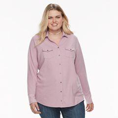 Plus Size SONOMA Goods for Life™ Utility Shirt