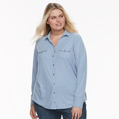 Plus Size SONOMA Goods for Life™ Utility Shirt
