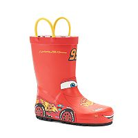 Western Chief Disney / Pixar Cars Lightning McQueen Toddler Waterproof Rain Boots