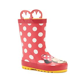 Western Chief Disney's Minnie Mouse Toddler Girls' Waterproof Rain Boots
