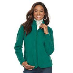 Women's Croft & Barrow® Quilted Yoke Fleece Jacket
