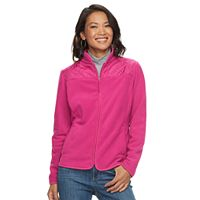 Women's Croft & Barrow® Quilted Yoke Fleece Jacket