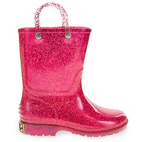 Western Chief Glitter Toddler Girls' Waterproof Rain Boots