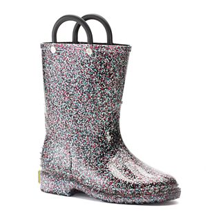 Toddler Girls Sequin Boots Black Trendy Baby Sequin Sparkle Cute 7 8 Medium  NEW