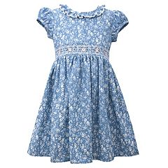 Girls 4-6x Bonnie Jean All-Over Ditsy Print Denim Dress