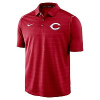 Men's Nike Cincinnati Reds Striped Polo