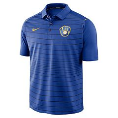 Men's Nike Milwaukee Brewers Striped Polo