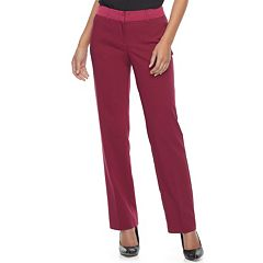 Women's Apt. 9® Torie Satin Waistband Curvy Straight-Leg Dress Pants