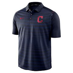Men's Nike Cleveland Indians Striped Polo