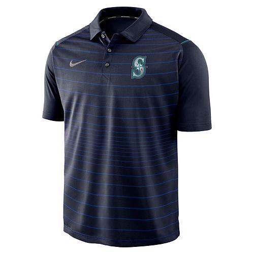 Men's Nike Seattle Mariners Striped Polo
