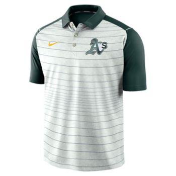 Men's Nike Oakland Athletics Striped Polo