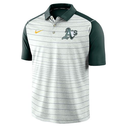 Men's Nike Oakland Athletics Striped Polo