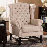 Baxton Studio Sussex Tufted Wingback Arm Chair