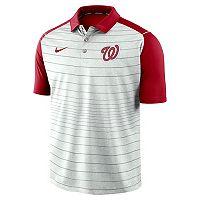 Men's Nike Washington Nationals Striped Polo