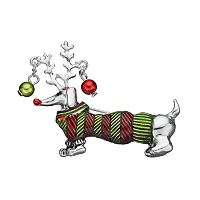 Christmas Dachshund Sweater Pin