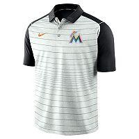 Men's Nike Miami Marlins Striped Polo