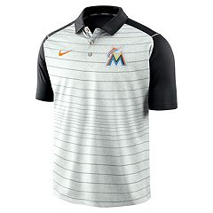 Men's Nike Miami Marlins Striped Polo