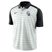 Men's Nike Colorado Rockies Striped Polo