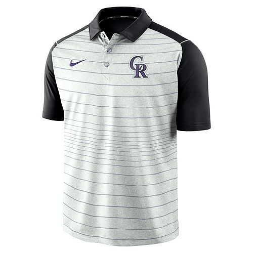 Men's Nike Colorado Rockies Striped Polo