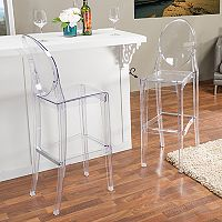 Baxton Studio Infinity Bar Stool 2-piece Set