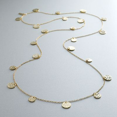 daisy fuentes Gold Tone Long Necklace