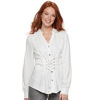 Women's Rock & Republic® Lace-Up Corset Shirt