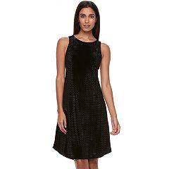 Women's Apt. 9® Velvet Highneck Dress