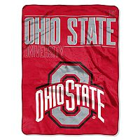Ohio State Buckeyes Super Plush Reversible Throw Blanket