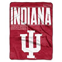 Indiana Hoosiers Super Plush Reversible Throw Blanket