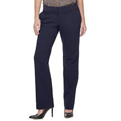 Women's Apt. 9® Torie Satin Waistband Straight-Leg Dress Pants