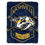 Nashville Predators Silk-Touch Throw Blanket