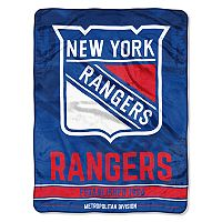 New York Rangers Micro Raschel Throw Blanket