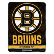 Boston Bruins Micro Raschel Throw Blanket