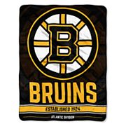 Boston Bruins Micro Raschel Throw Blanket