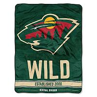 Minnesota Wild Micro Raschel Throw Blanket