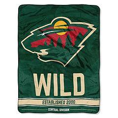 Minnesota Wild Micro Raschel Throw Blanket