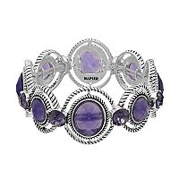 Napier Round Purple Stone Orbital Stretch Bracelet