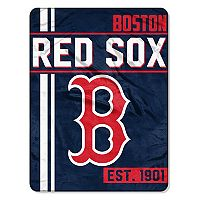Boston Red Sox Micro Raschel Throw Blanket