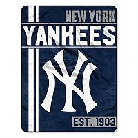New York Yankees Micro Raschel Throw Blanket