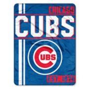 Chicago Cubs Micro Raschel Throw Blanket