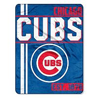 Chicago Cubs Micro Raschel Throw Blanket
