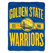 Golden State Warriors Micro Raschel Throw Blanket