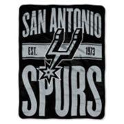 San Antonio Spurs Micro Raschel Throw Blanket
