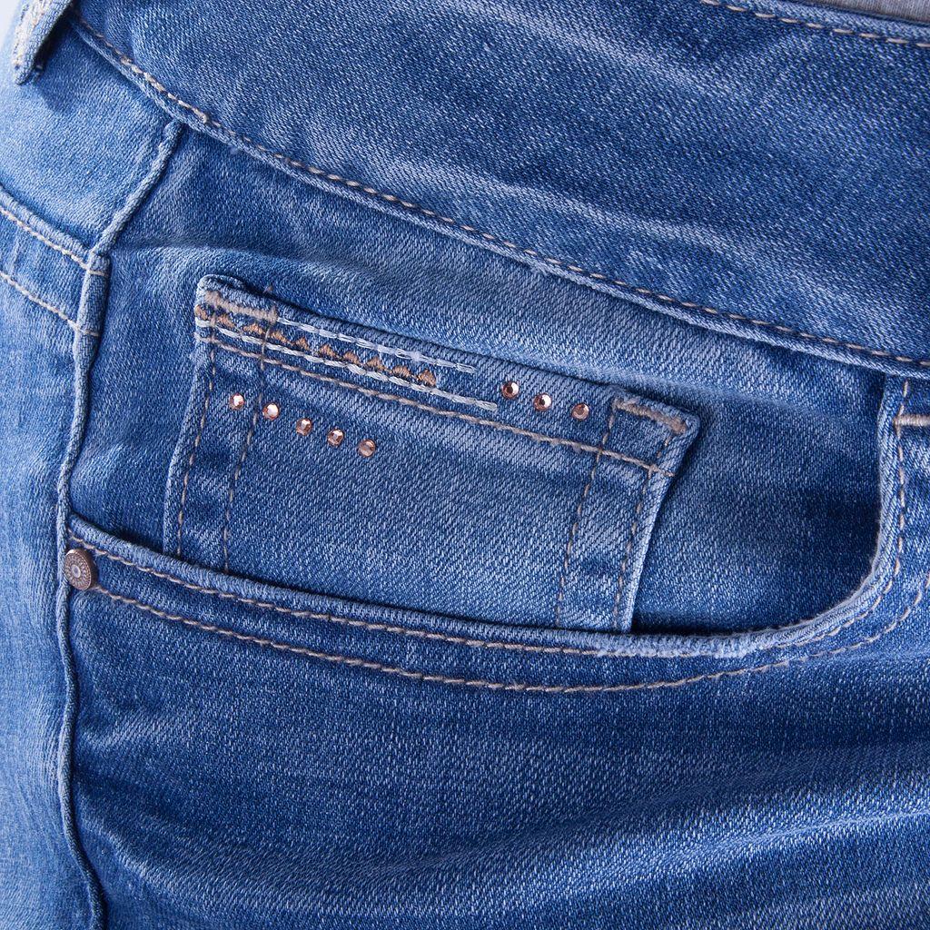Juniors' Plus Size Amethyst Destructed Skinny Jeans