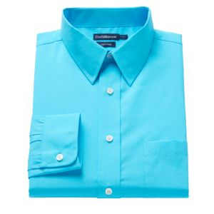 Men's Croft & Barrow® Regular-Fit Easy-Care Point-Collar Dress Shirt