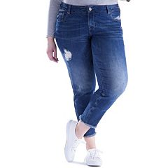 Juniors' Plus Size Amethyst Distressed Ankle Skinny Jeans