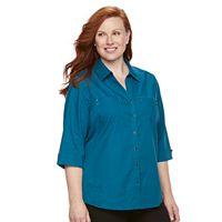 Plus Size Women's Croft & Barrow® Knit-to-Fit Shirt